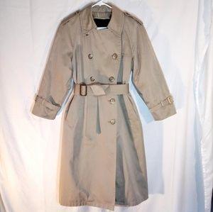 6P Vintage Women's London Fog Trench Coat Jacket